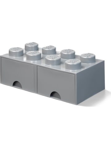 """LEGO Schubladenbox """"Brick 8"""" in Grau - (B)50 x (H)18 x (T)25 cm"""