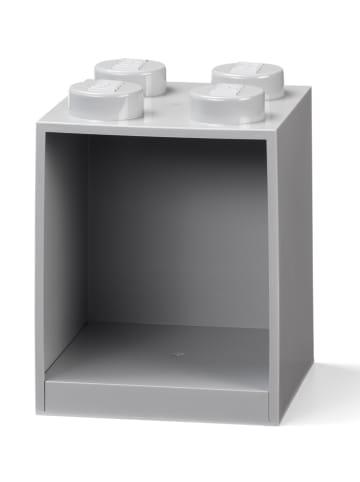 """LEGO Regał ścienny """"Brick 4"""" w kolorze szarym - 16 x 21 x 16 cm"""