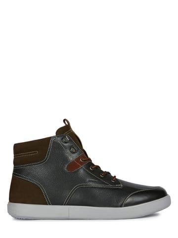"""Geox Leren sneakers """"Harrod"""" zwart"""