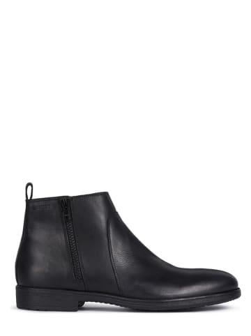 """Geox Leder-Ankle-Boots """"Jaylon"""" in Schwarz"""