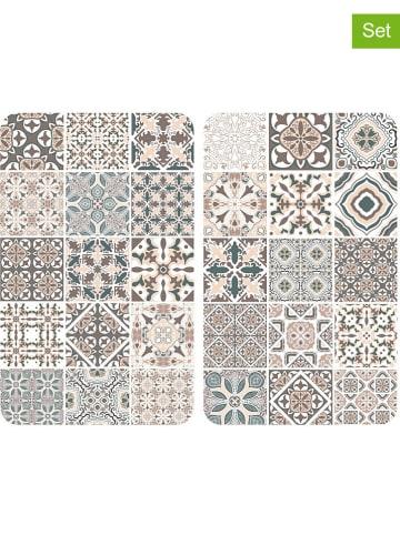 """Wenko 2-delige set: fornuisafdekplaten """"Tegel"""" beige/meerkleurig - (L)30 x (B)52 cm"""