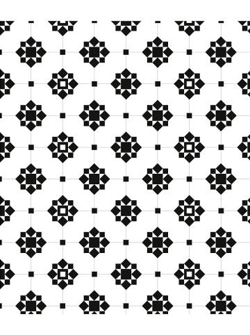 """Wenko Spatwand """"Arabesque"""" wit/zwart - (L)70 x (B)60 cm"""