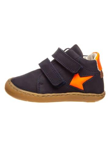 BO-BELL Skórzane sneakersy w kolorze granatowo-pomarańczowym