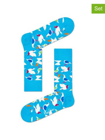 Happy Socks Skarpety (2 pary) w kolorze błękitnym