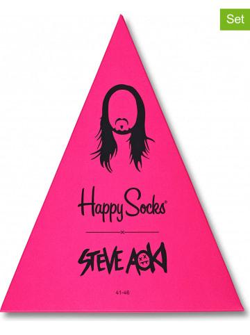 """Happy Socks 4-częściowy zestaw prezentowy """"Steve Aoki"""" ze wzorem"""