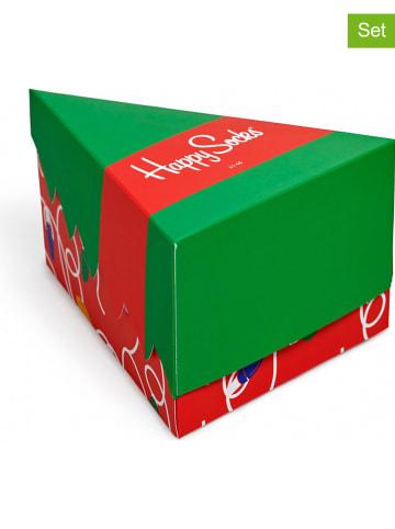 """Happy Socks 4-częściowy zestaw prezentowy """"Holiday"""" ze wzorem"""
