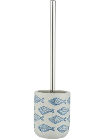 "Wenko WC-Garnitur ""Aquamarine"" in Creme/ Hellblau - (H)40 cm"