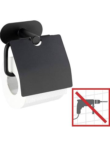 "Wenko Roestvrijstalen toiletrolhouder ""Orea"" zwart - (B)14 x (H)12,5 x (D)7 cm"