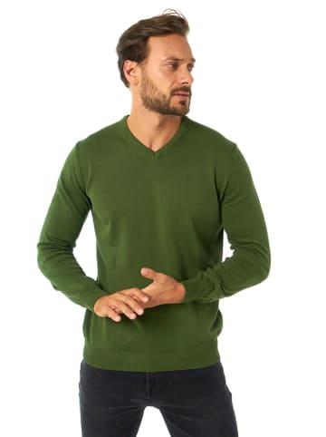 JIMMY SANDERS Sweter w kolorze ciemnozielonym
