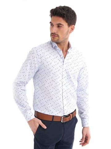 JIMMY SANDERS Koszula w kolorze jasnoniebieskim ze wzorem