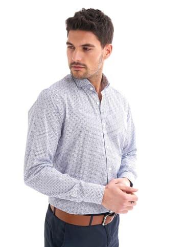 JIMMY SANDERS Koszula w kolorze granatowo-białym