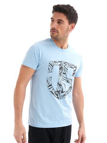 JIMMY SANDERS T-shirt w kolorze błękitnym
