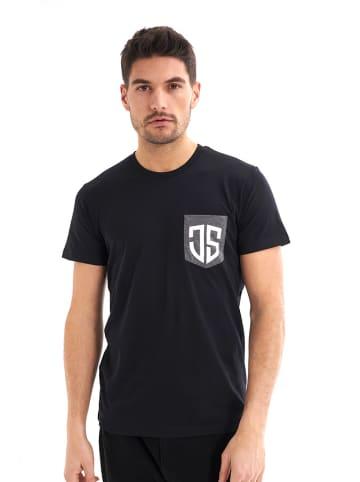 JIMMY SANDERS T-shirt w kolorze czarnym