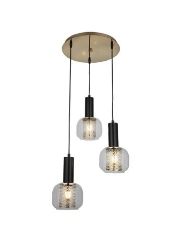 Homemania Hanglamp zwart/goudkleurig - Ø 38 cm