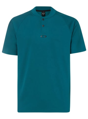 "Oakley Funktionspoloshirt ""Ellipse"" in Grün/ Blau"
