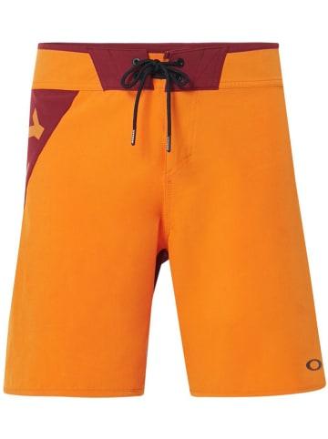 "Oakley Badeshorts ""Angle Block"" in Orange"