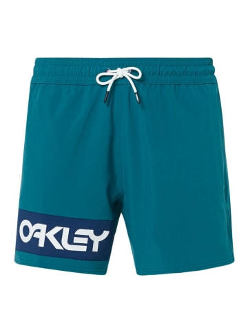 """Oakley Zwemshort """"Beach Color"""" turquoise"""