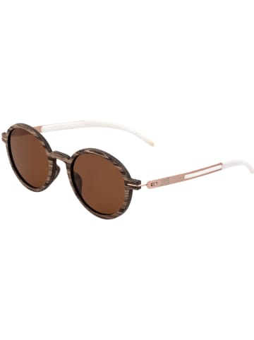 """Earthwood Unisex-Sonnenbrille """"Toco"""" in Naturholz-Roségold/ Braun"""