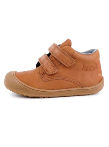 Lamino Leder-Sneakers in Hellbraun