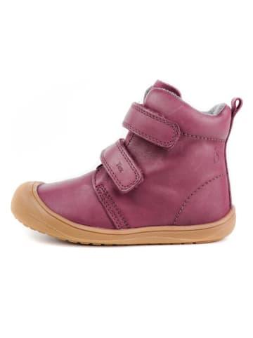 Lamino Skórzane sneakersy w kolorze różowym