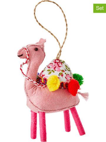 "Rice 3er-Set: Dekohänger ""Camel"" in Rosa/ Beige/ Braun - (B)13 cm"