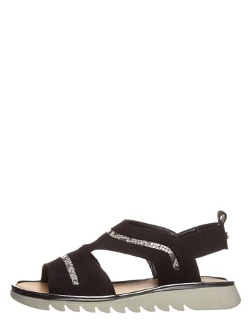 "The Flexx Leren sandalen ""Wave Form"" zwart"