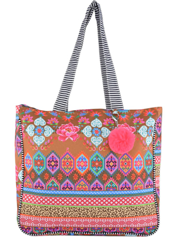 """HAPPINESS Shopper """"Happiness Happy"""" in Bunt - (B)37 x (H)42 x (T)16 cm"""