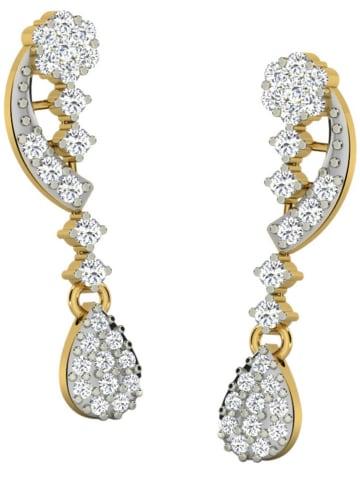 Diamant Vendôme Gouden oorhangers met diamanten