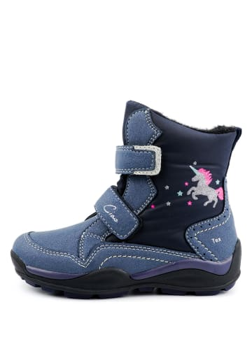Ciao Kozaki zimowe w kolorze niebiesko-granatowym