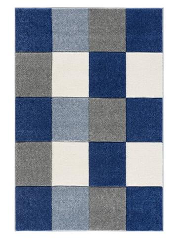 "Kids love rugs Webteppich ""Checkerboard"" in Blau/ Hellblau"