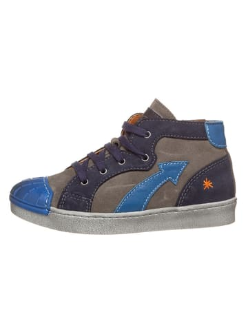 Art Kids Leren sneakers grijs/blauw