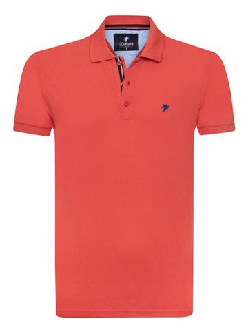 CULTURE Koszulka polo w kolorze koralowym