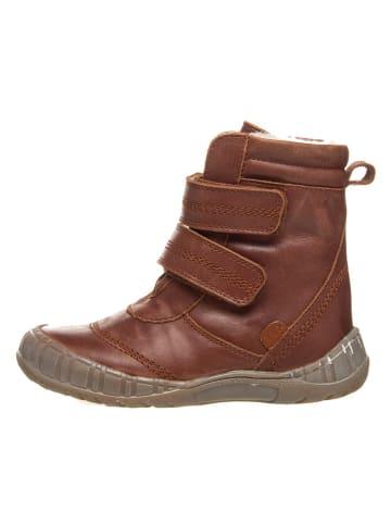 POM POM Leren boots lichtbruin