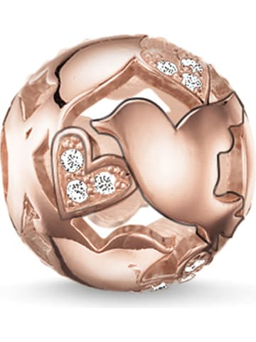 Thomas Sabo Rosévergulde zilveren bead met zirkonia's