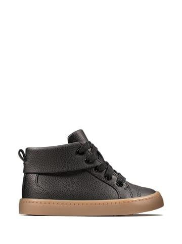 Clarks Skórzane sneakersy w kolorze czarnym