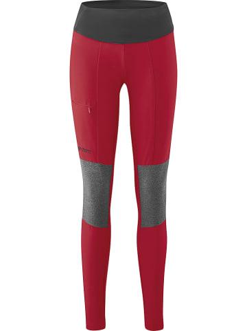 Maier Sports Funktionsleggings in Rot/ Grau