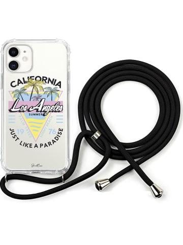 SmartCase Case met smartphoneketting voor iPhone 11 transparant/zwart
