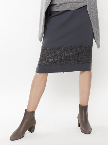 Deni Cler Spódnica w kolorze szarym