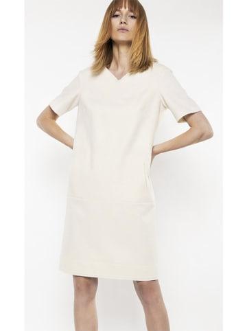 Deni Cler Sukienka w kolorze białym