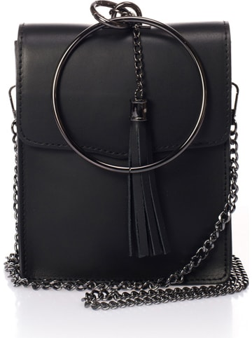 SCUI Skórzana torebka w kolorze czarnym - 15 x 19 x 6 cm