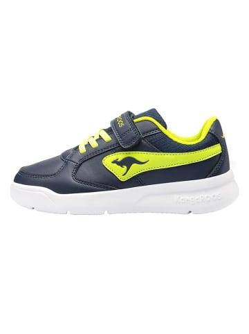 """Kangaroos Sneakers """"K-Cope EV"""" donkerblauw/groen"""