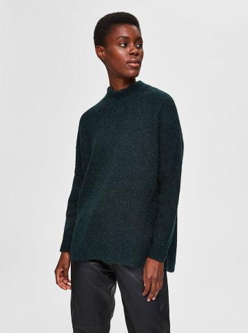 """SELECTED FEMME Sweter """"Lulu"""" w kolorze ciemnozielonym"""