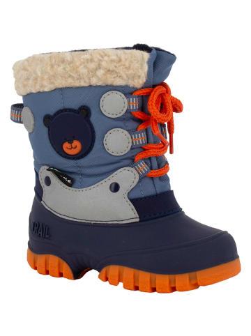 "Spirale Winterboots ""Fabi"" blauw/oranje"