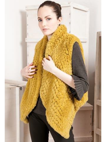"Indies Kamizelka ""Luxe"" w kolorze żółtym"