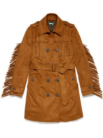 Benetton Płaszcz w kolorze brązowym