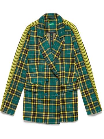 Benetton Blezer w kolorze zielono-żółtym