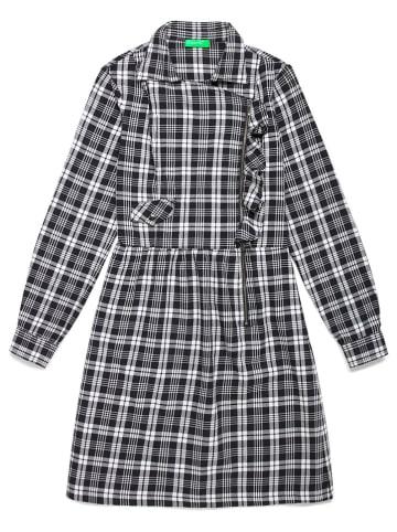 Benetton Sukienka w kolorze czarno-białym