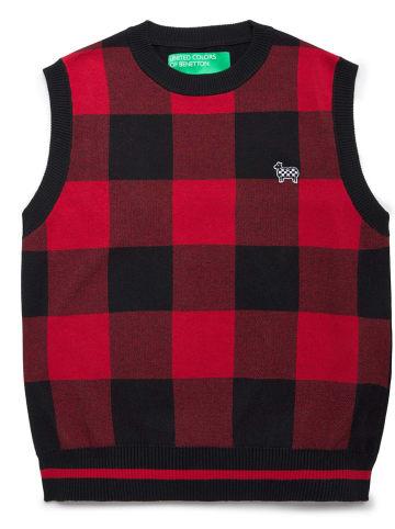Benetton Spencer rood/zwart