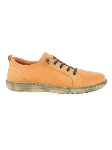 Andrea Conti Leren veterschoenen oranje