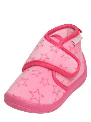 Playshoes Pantoffels lichtroze/roze